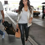 Kim Kardashian Leather Look
