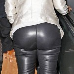 Kim K in Leather