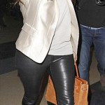 Kim in Leather pants