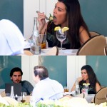 Kourtney in Miami enjoying lunch with Scott Disick