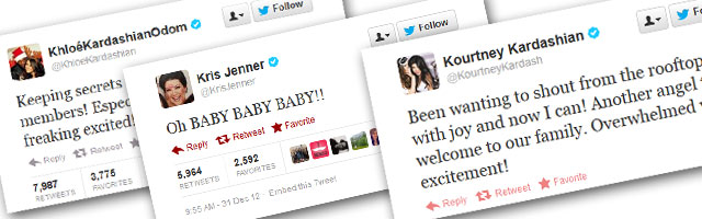 Kris Jenner, Khloe and Kourtney Kardashian React to News that Kim K. is Pregnant