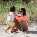 Mason with Kourtney Kardashian on Miami Beach