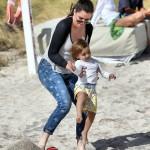 Khloe Kardashian and Mason in Miami Beach