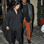 Kim Kardashian and Kanye West take A walk in Paris, France