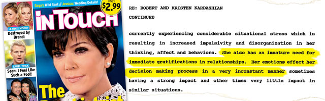 Kris Jenner Slammed in Psych Evaluation?!