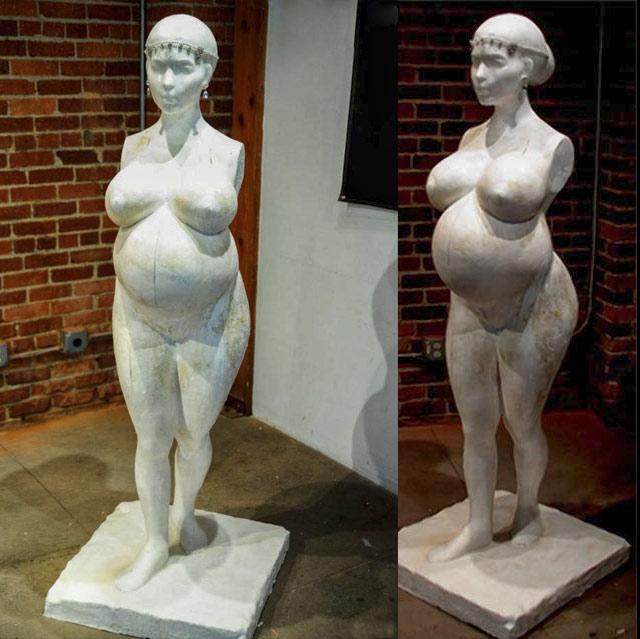 Kim Kardashian L.A. Fertility statue