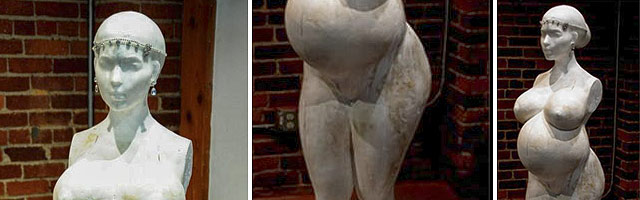 Pregnant Kim Kardashian in the Nude statue