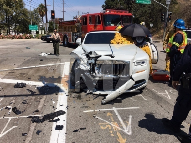 Kim Kardashian's mom got into an accident in her Rolls-Royce
