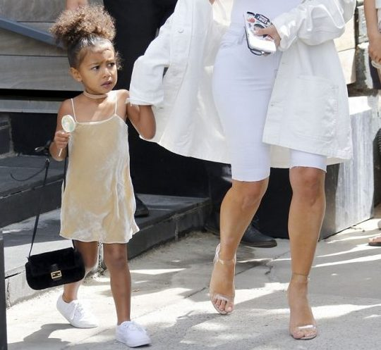 Kim Kardashian spoils her three-year-old daughter North