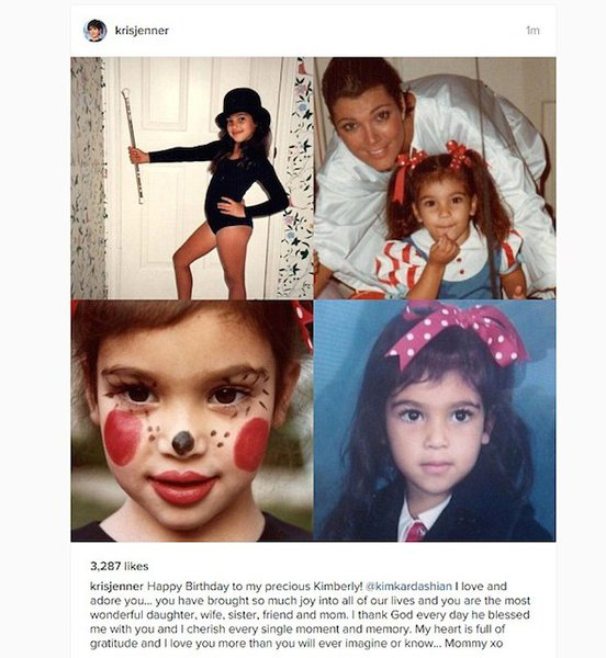 Kris Jenner shared personal photos of little Kim