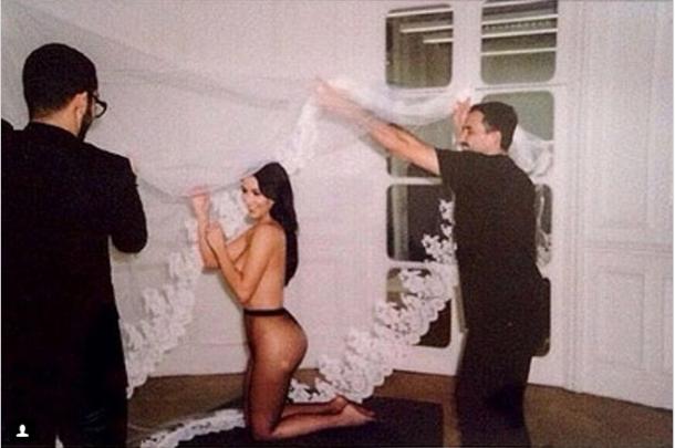 Kim Kardashian showed her butt in a new photo shoot