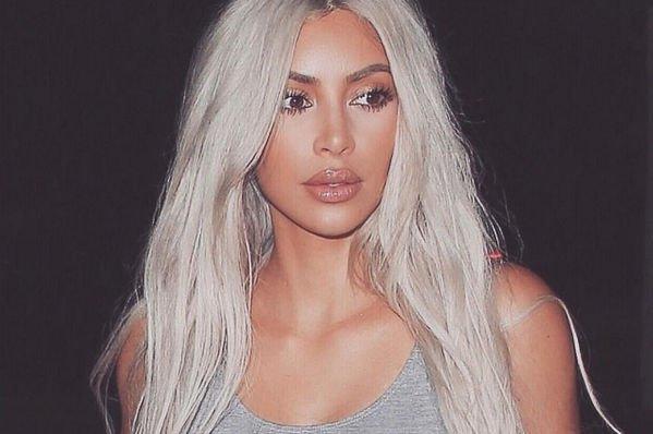Kim Kardashian showed her real hair
