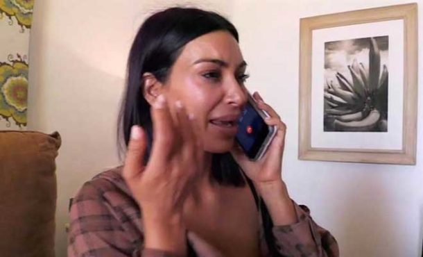Kim Kardashian burst into tears at her photos