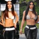 Kim Kardashian dressed up like the late Aaliyah for Halloween